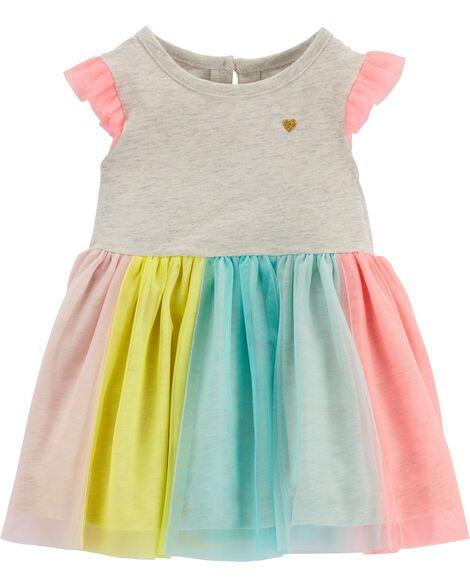712f19a6d Rainbow Tutu Dress | Carters.com