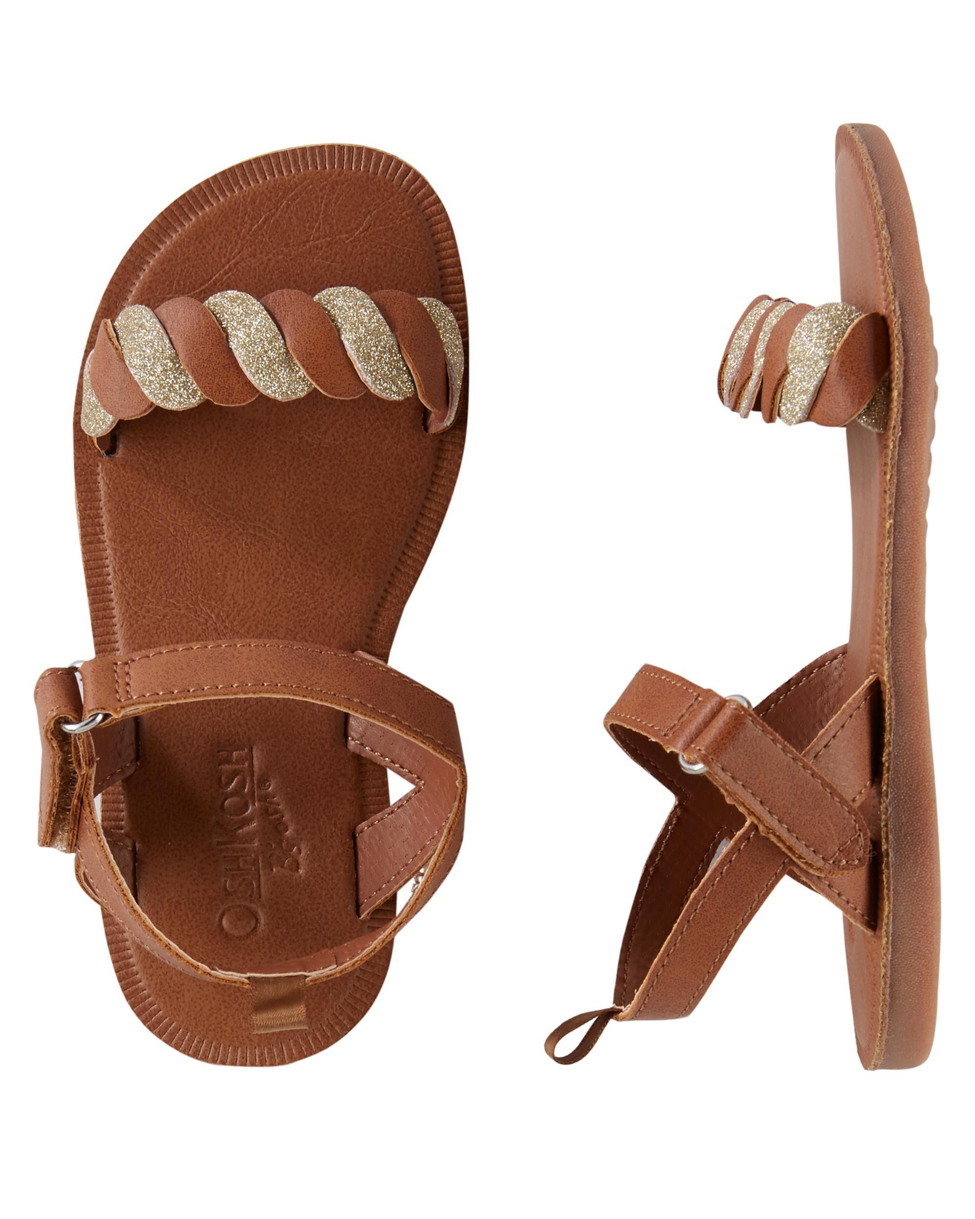 3ff9208279646 Toddler Girl OshKosh Braided Sandals
