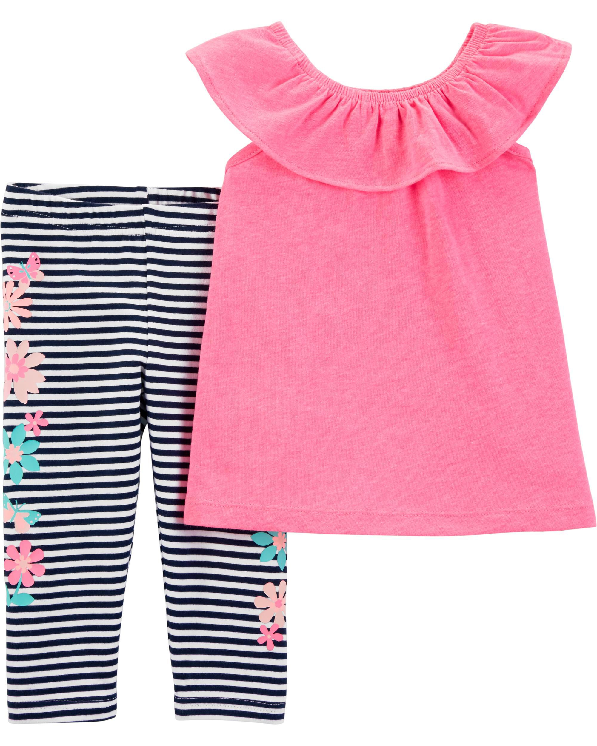 Baby Girls 3-6 Months Top/legging Set Outfits & Sets