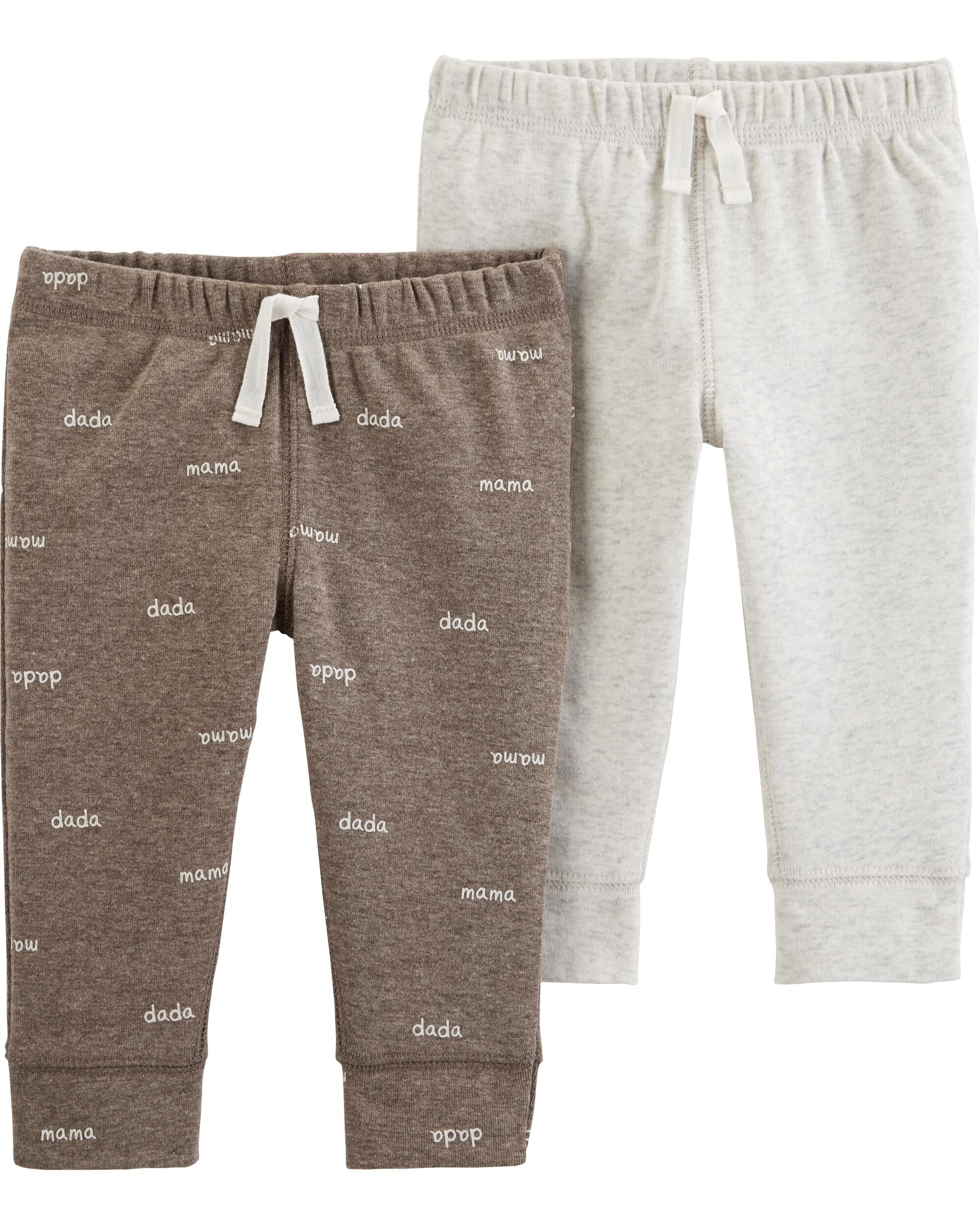2-Pack Cotton & Poly Pants