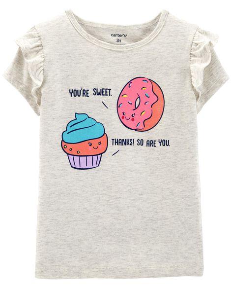 Donut & Cupcake Flutter-Sleeve Tee