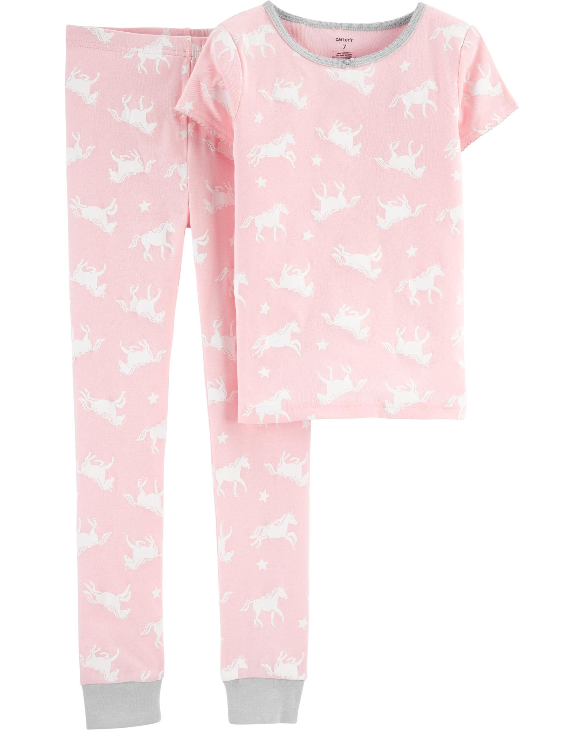 *DOORBUSTER* 2-Piece Unicorn Snug Fit Cotton PJs