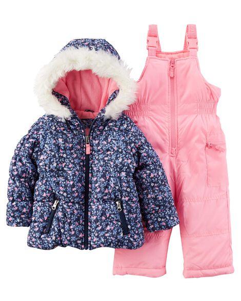 8f17853f1 Floral Snowsuit Set | Carters.com