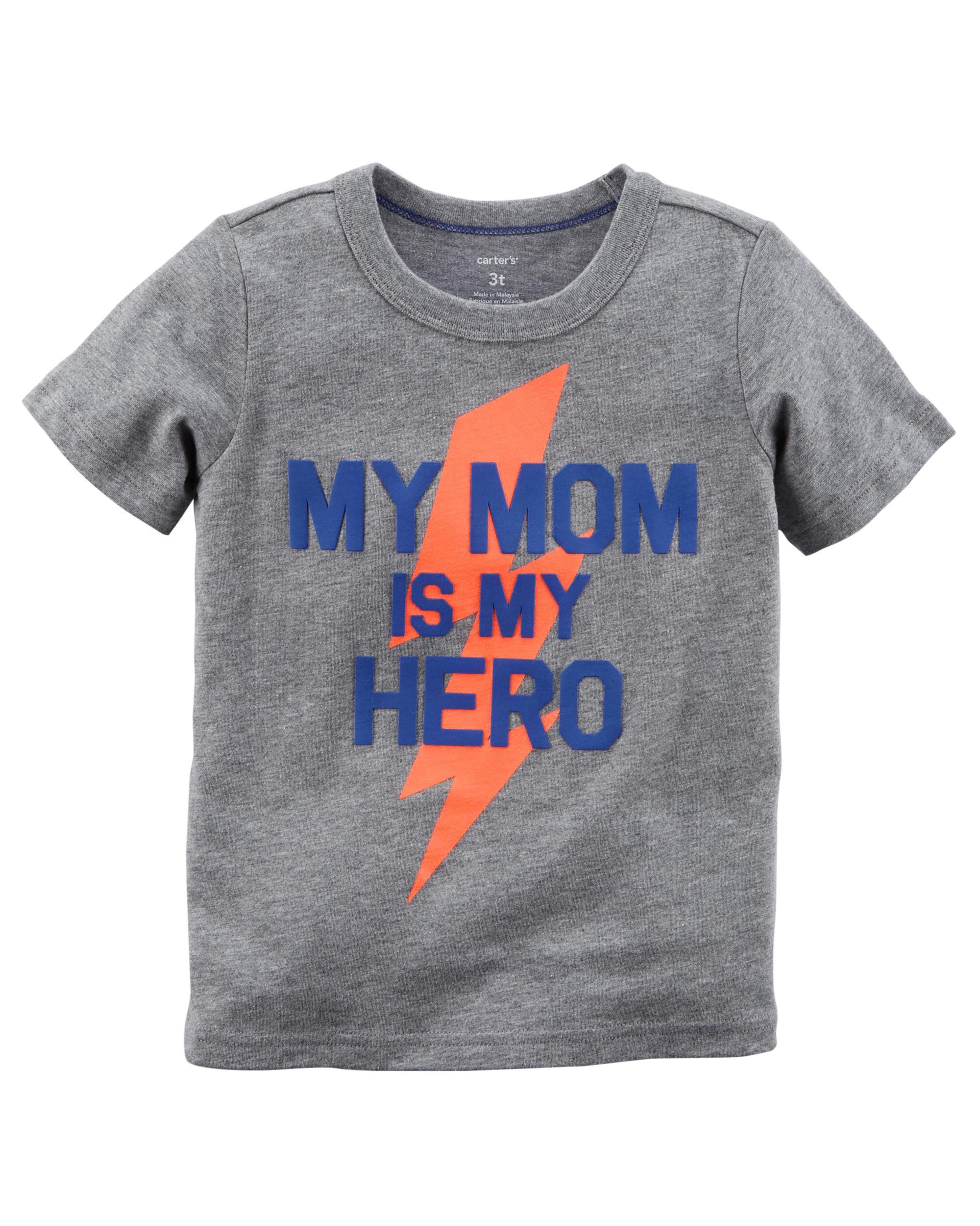 Mom Is My Hero Jersey Tee