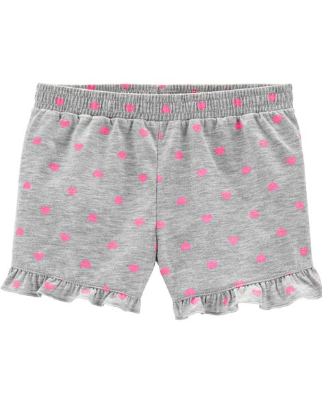 Hearts Poly Sleep Shorts