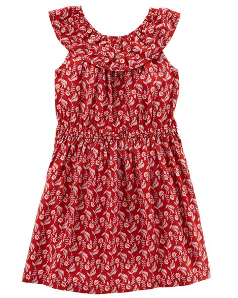 Ruffle Top Woven Dress