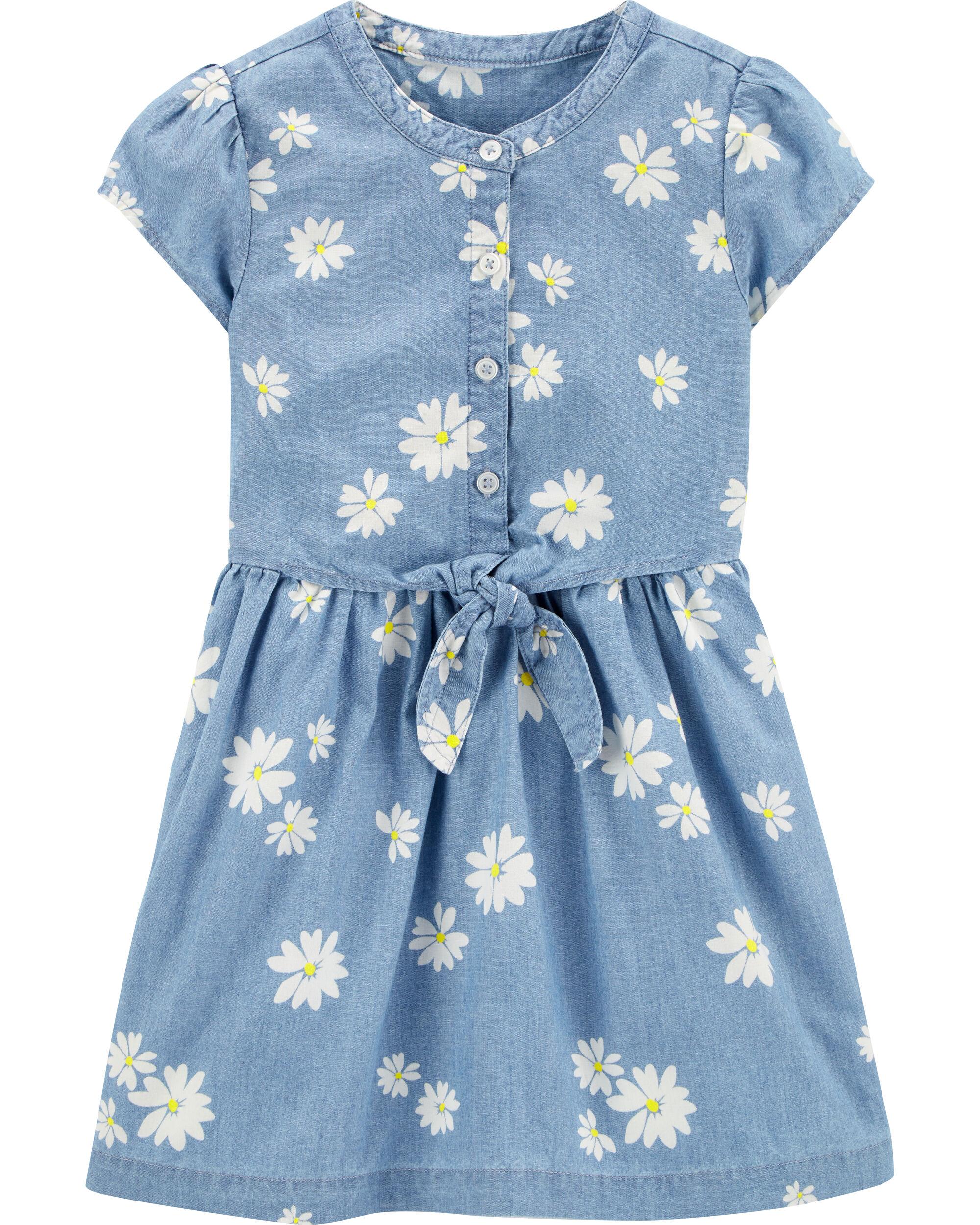 NWT Toddler Girls Carter/'s Floral Print Dress Multi Color Flowers Fancy