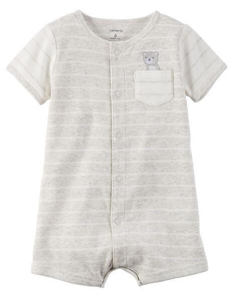 92a9a9ef3 Snap-Up Cotton Romper
