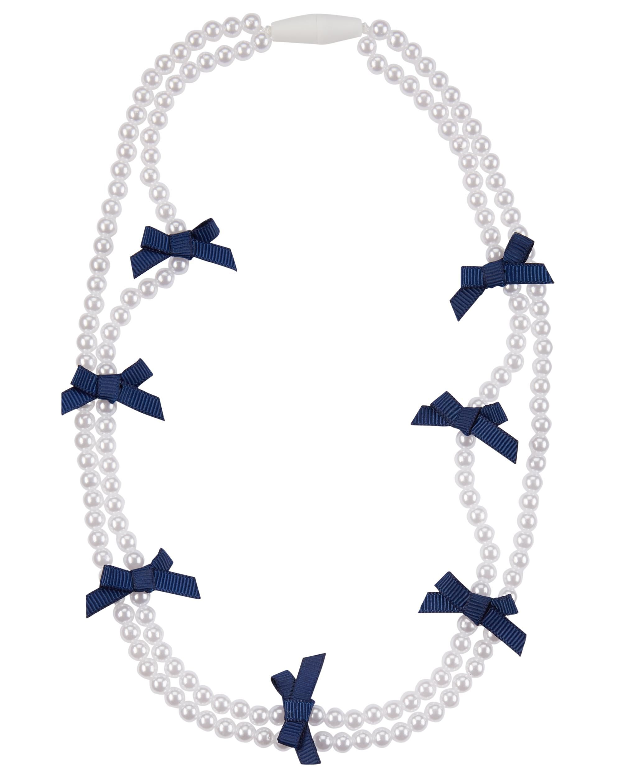 product aqua necklace bow