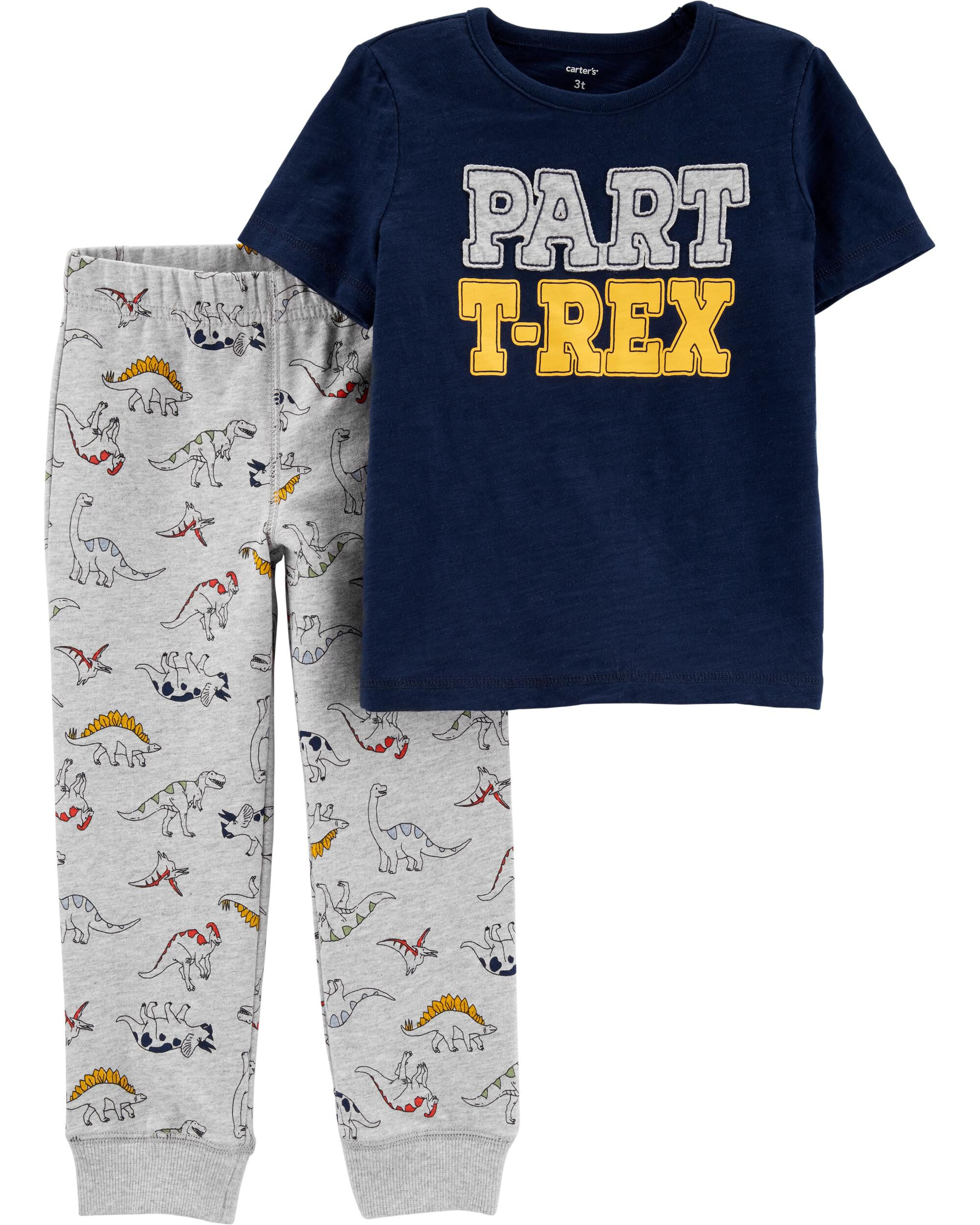 Newborn Baby Boys Top /& Joggers Set Dinosaur Outfit T-Shirt Trousers Printed Tee