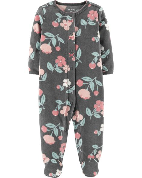 Floral Snap-Up Fleece Sleep   Play  278eb0c89