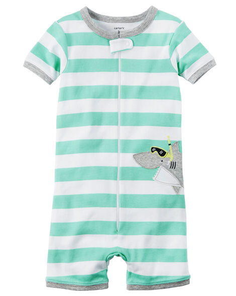 de644074b79f 1-Piece Snug Fit Cotton Romper PJs