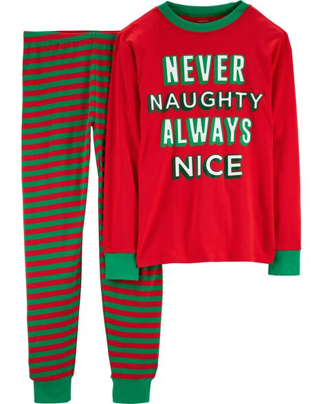 2-Piece Adult Christmas Cotton PJs