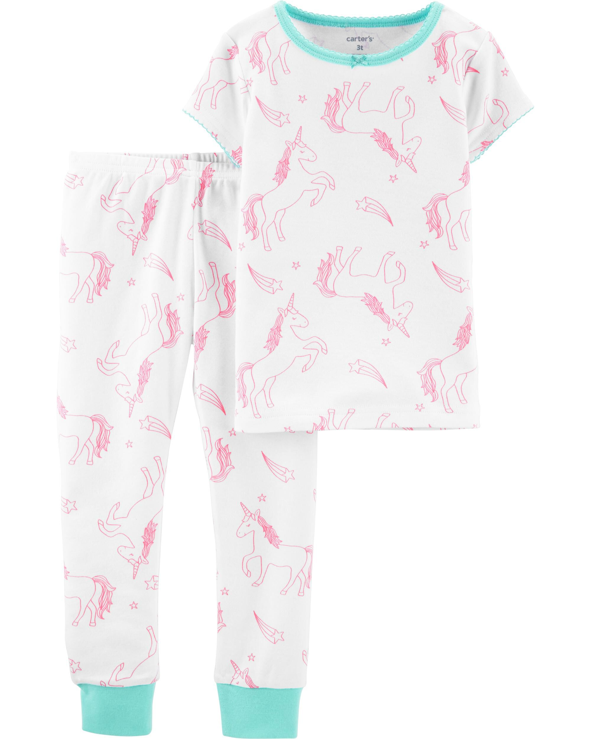 Carters Baby Girls 2 Piece PJ Set Baby