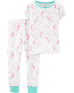 47ef1afad2 2-Piece Unicorn Snug Fit Cotton PJs