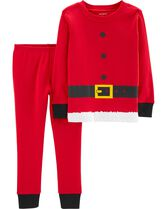 aad17d3ef5 2-Piece Kids Santa Claus Snug Fit Cotton PJs