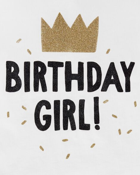 Glitter Birthday Girl Jersey Tee
