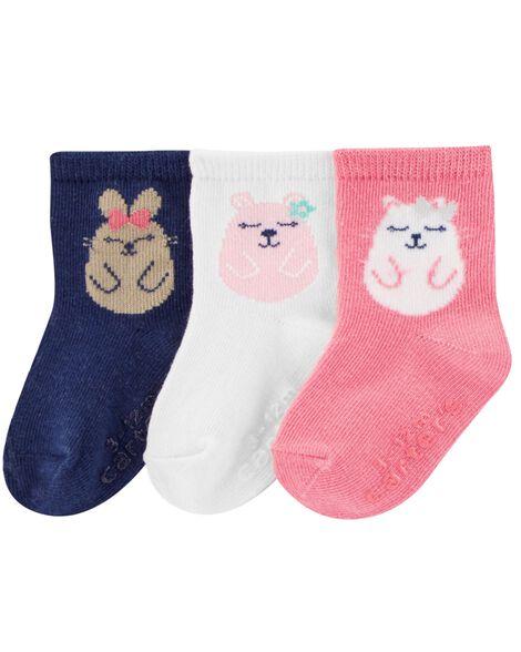 3-Pack Animal Crew Socks