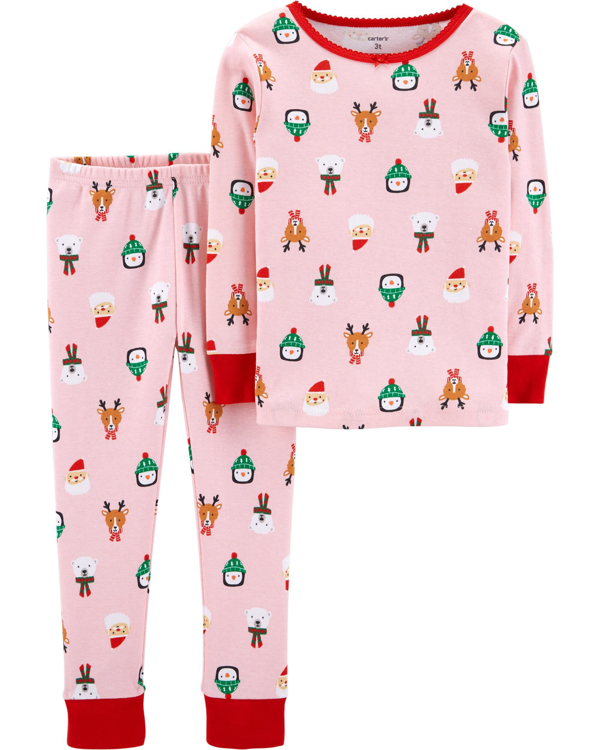 2 piece baby christmas snug fit cotton pjs loading zoom