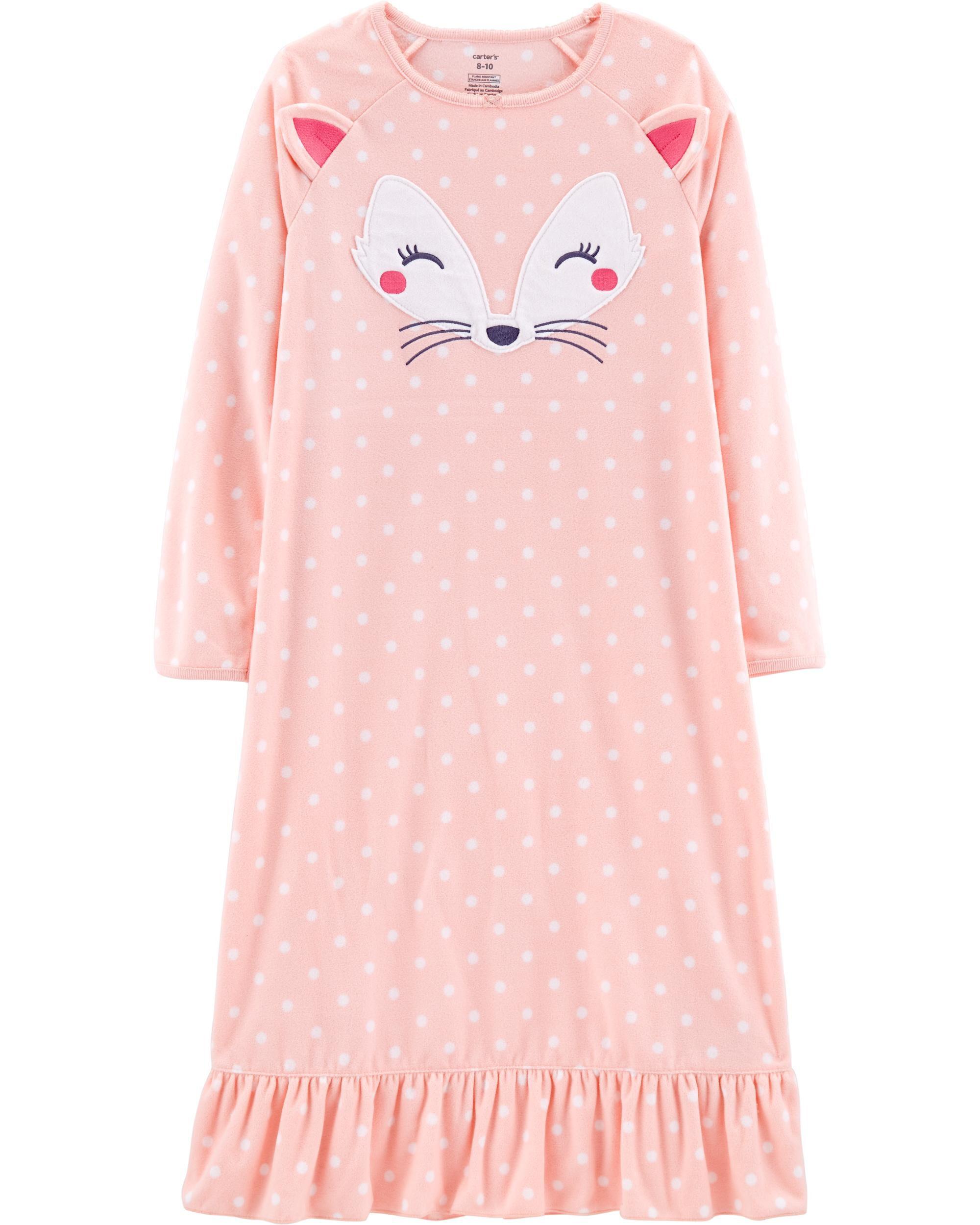 Fox Fleece Sleep Gown   Carters.com
