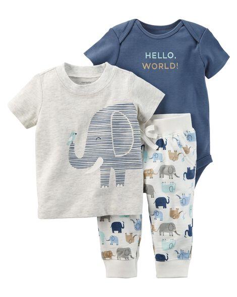 a7e08cad6 3-Piece Elephant Babysoft Bodysuit Pant Set   Carters.com
