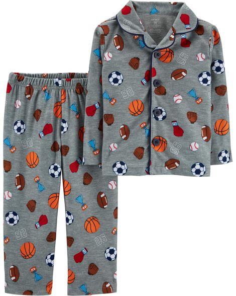 dc1e8b215a 2-Piece Sports Print Lightweight Fleece PJs ...