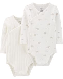 3a6f67f2c2 2-Pack Peanut Side-Snap Bodysuits