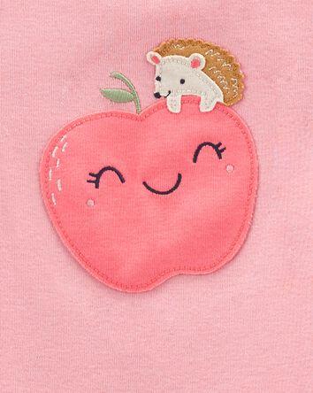 4-Piece Apples 100% Snug Fit Cotton...