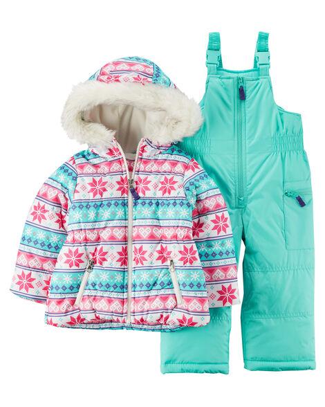 a4d72633e535 Fair Isle Snowsuit Set