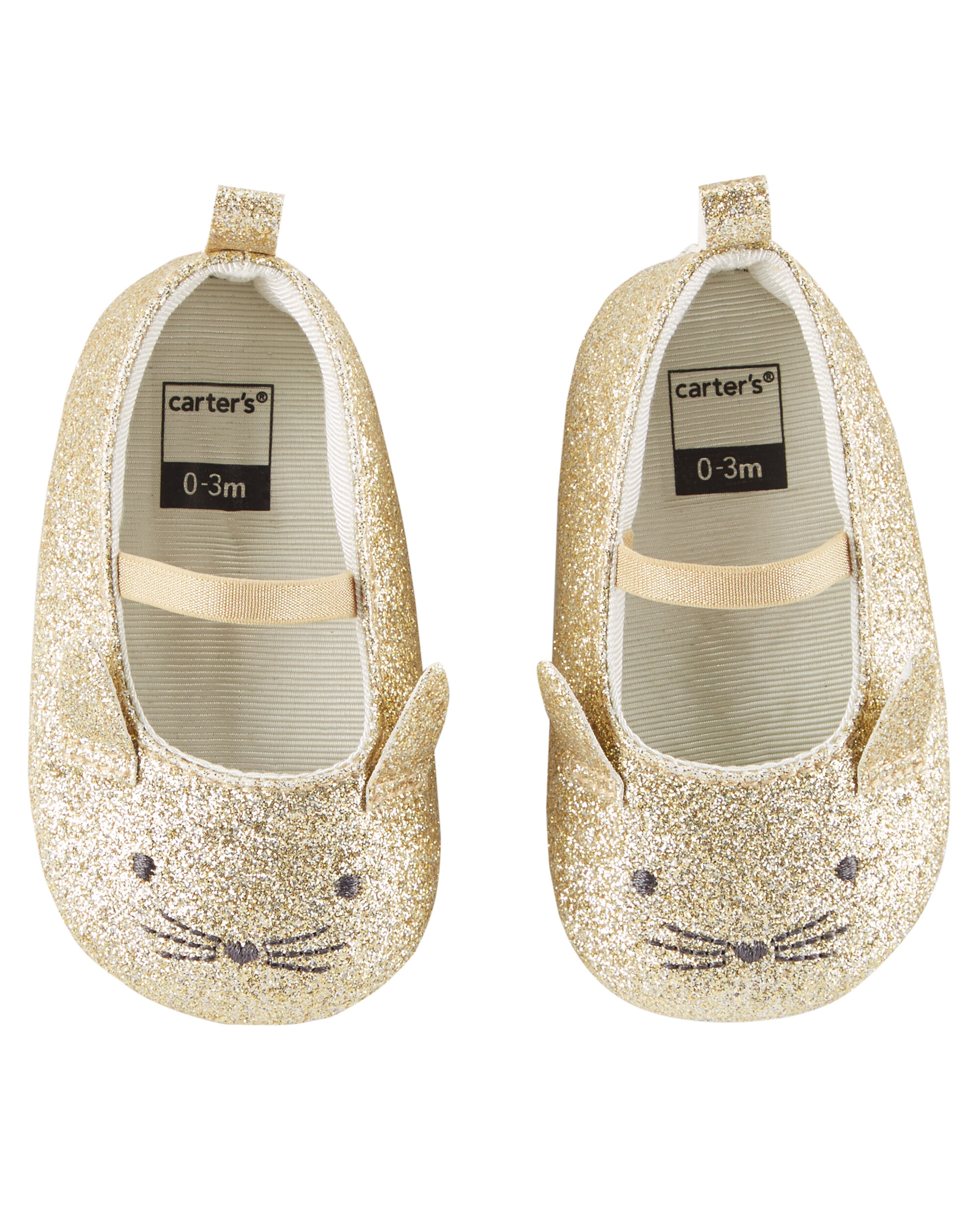 Carter s Glitter Mary Jane Crib Shoes