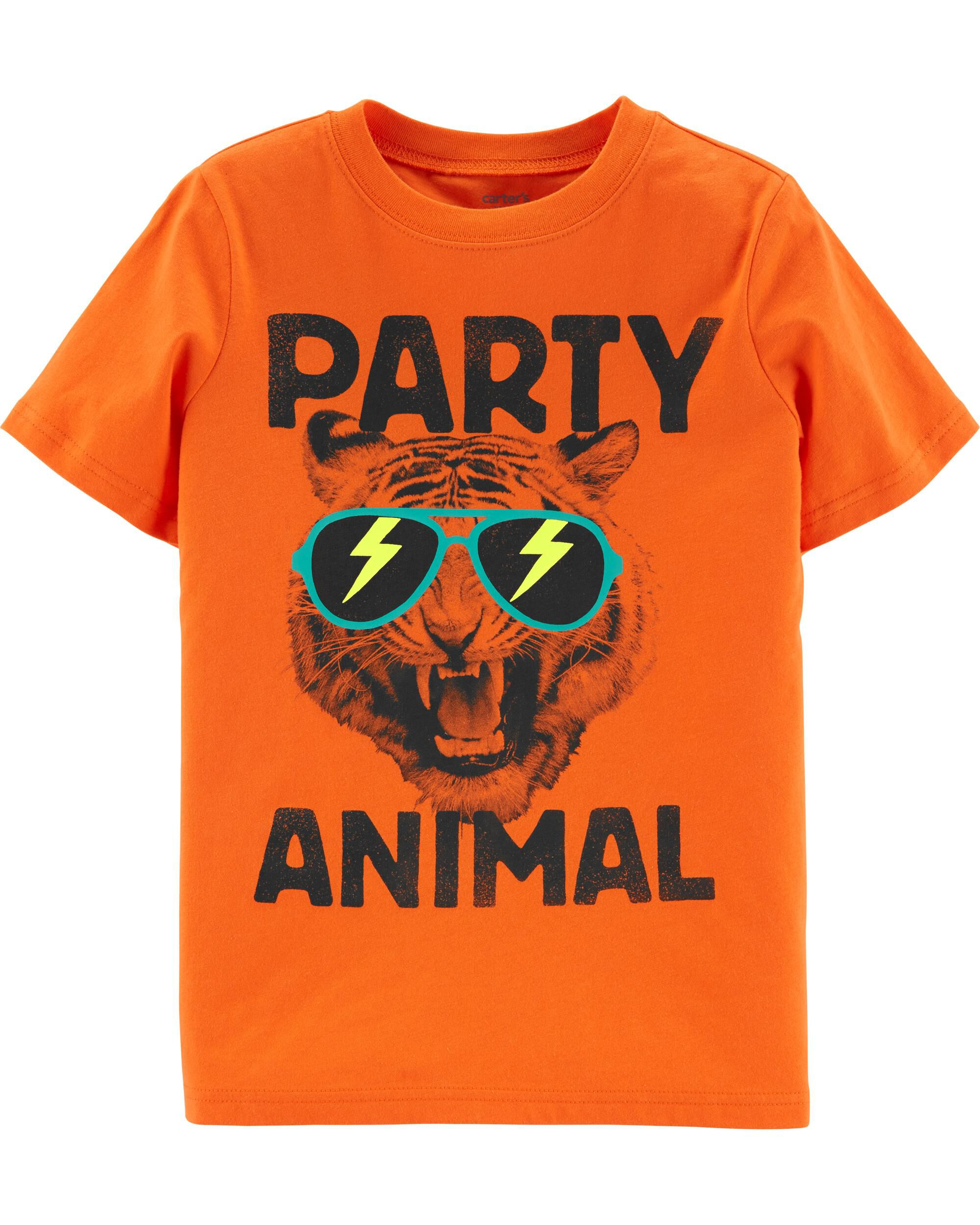 *CLEARANCE* Party Animal Tiger Jersey Tee
