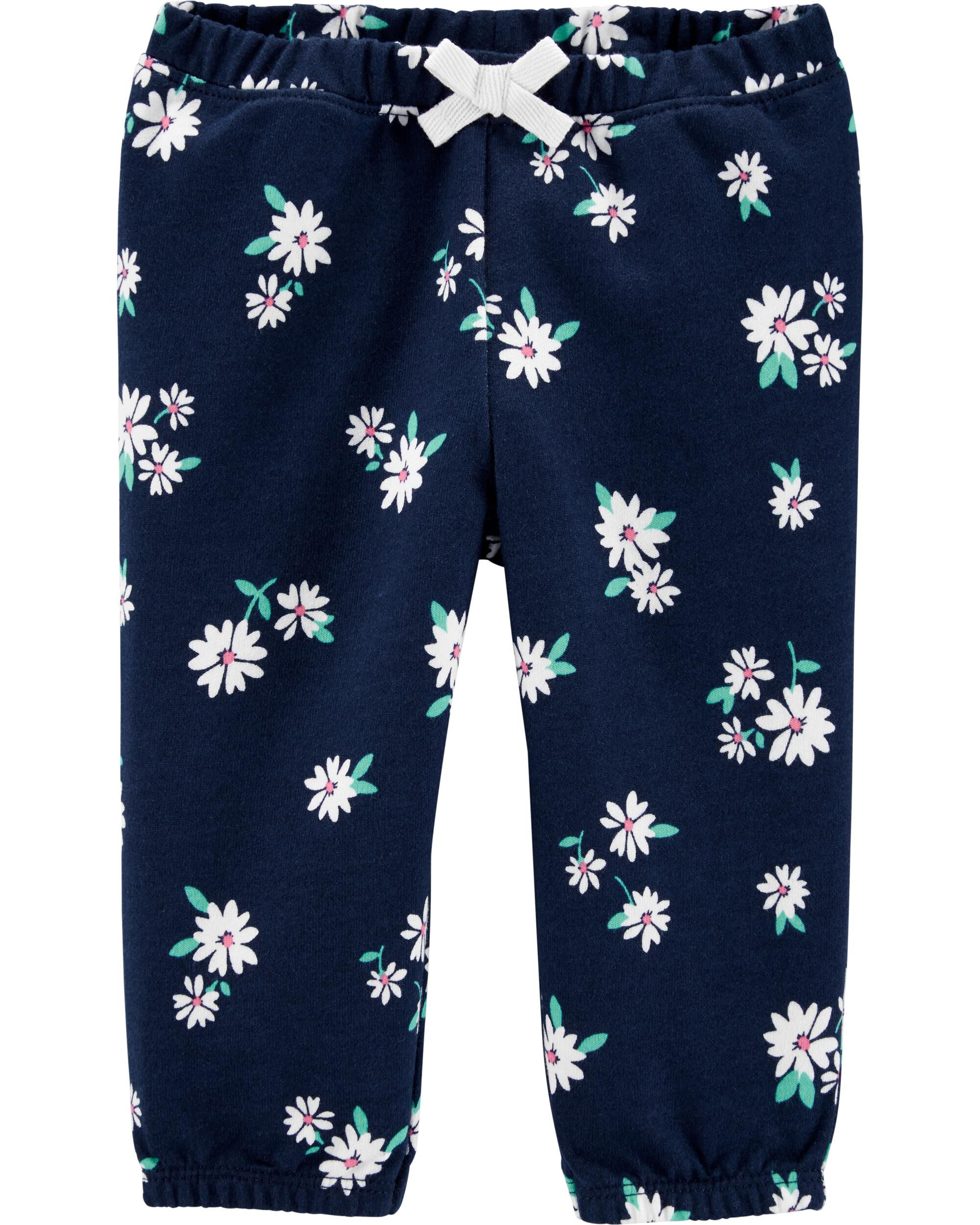 *DOORBUSTER* Floral Pull-On French Terry Pants