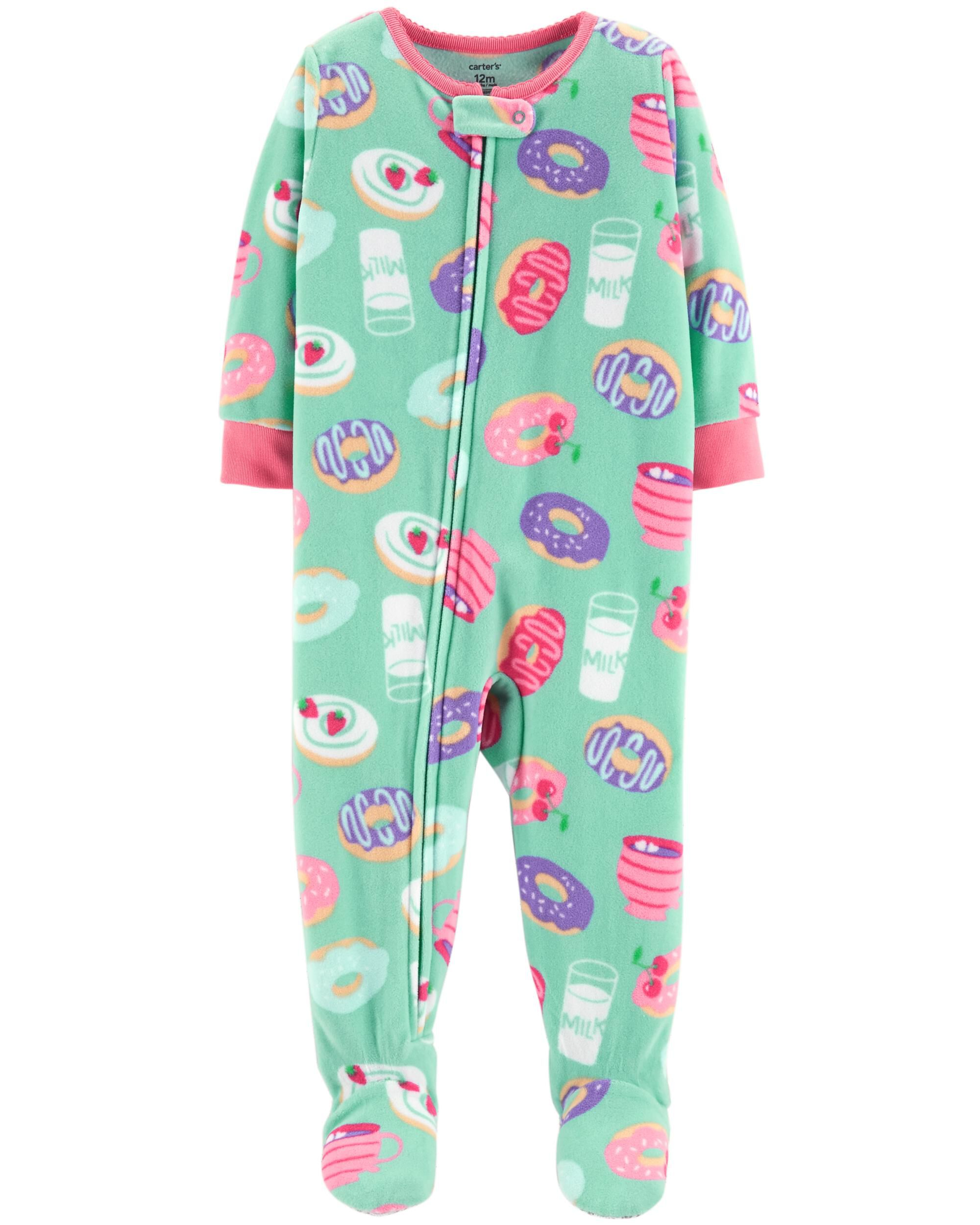 NWT New Carters Toddler Girl 2-Piece Fleece Pajama Set Top /& Bottoms 4T