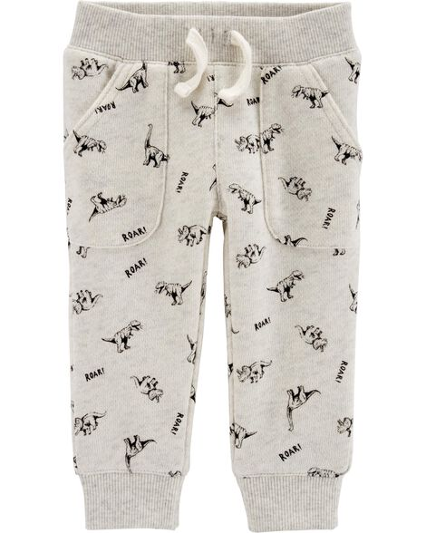 Dinosaur Pull-On French Terry Pants