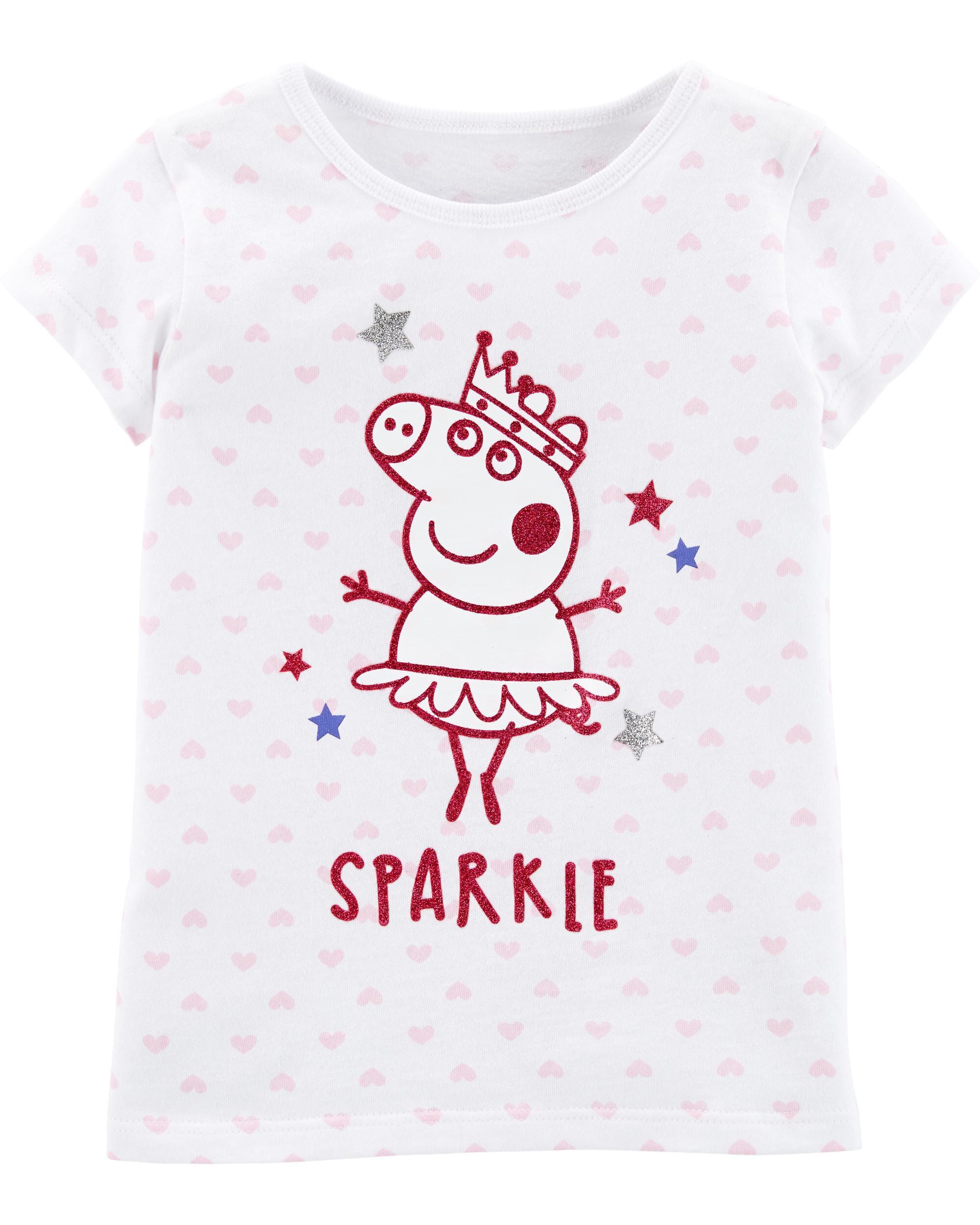 New Girls Toddler Peppa Pig 2 Sleepwear Set Pajama Just Have Fun Pink 24M 3T