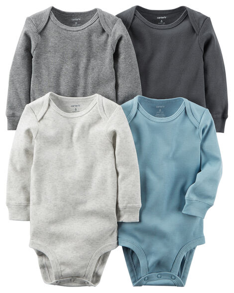 68248b3ef 4-Pack Long-Sleeve Original Bodysuits | Carters.com