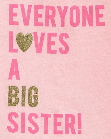Glitter Big Sister Jersey Tee