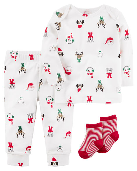 8e2e0ca55 3-Piece Christmas PJ Set