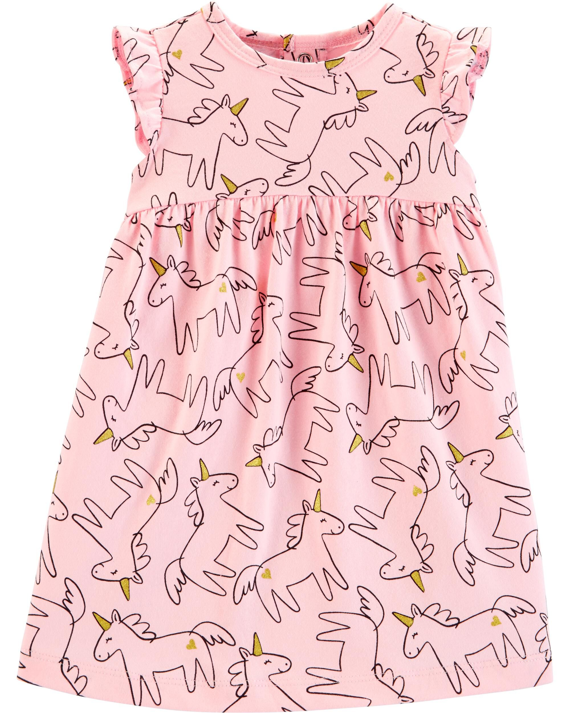 Girls' Clothing (0-24 Months) Next Baby Girl Summer Dress With Matching Sun Hat Size:0-3months Selected Material