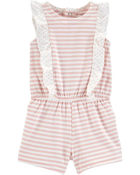 Striped Ruffle Romper