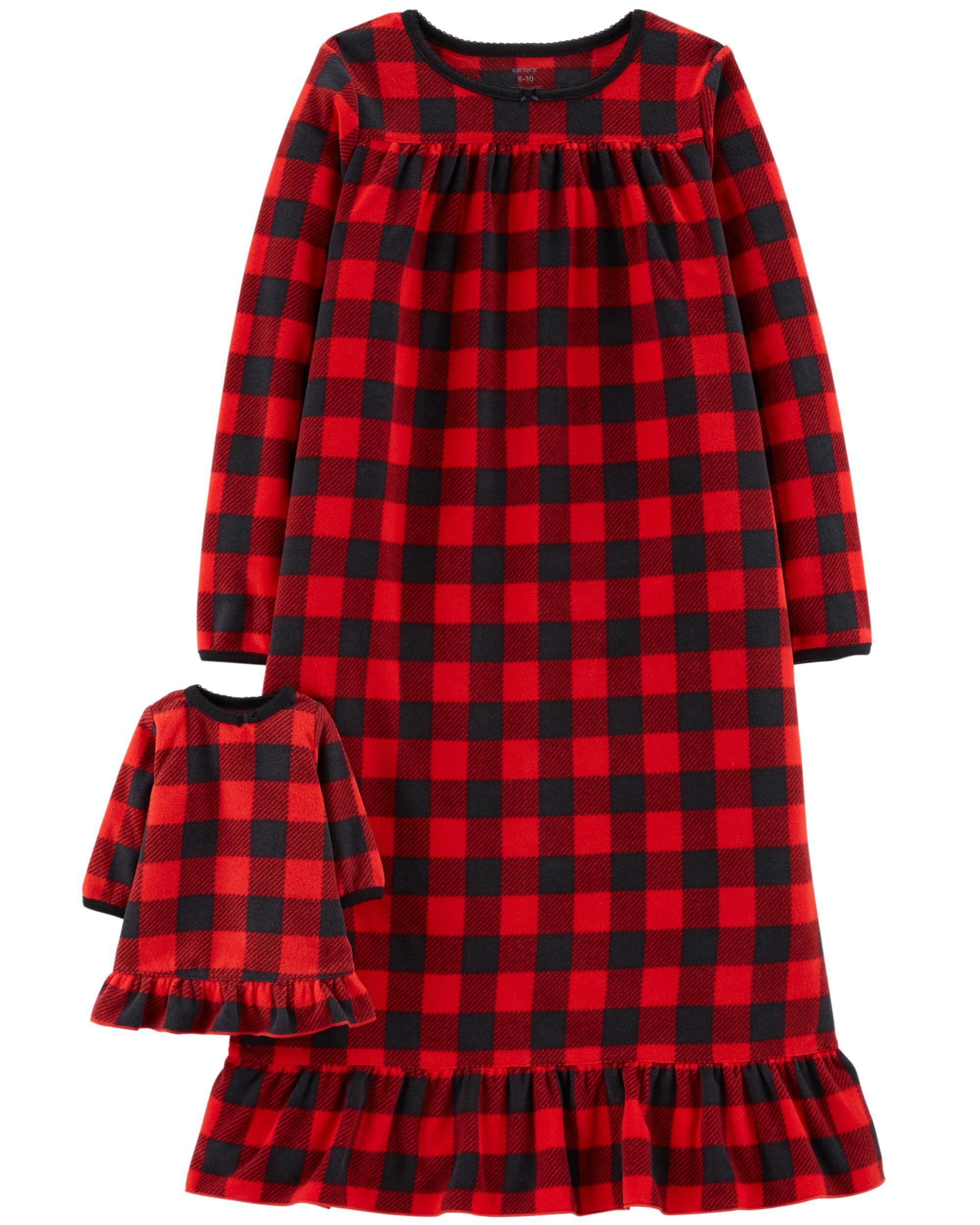2-Pack Doll Fleece Sleep Gowns | Carters.com