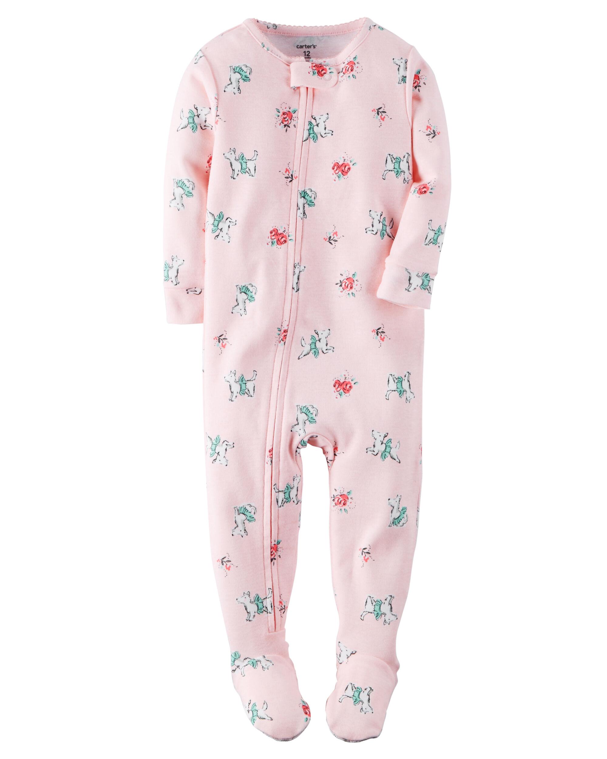 1-Piece Snug Fit Cotton PJs. Loading zoom c0019a7b4