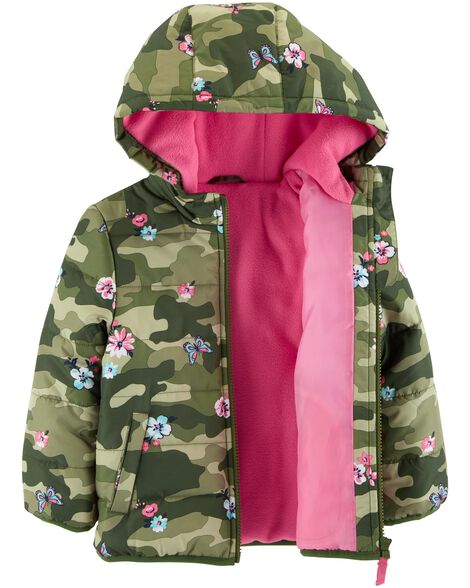 Floral Camo Puffer Jacket
