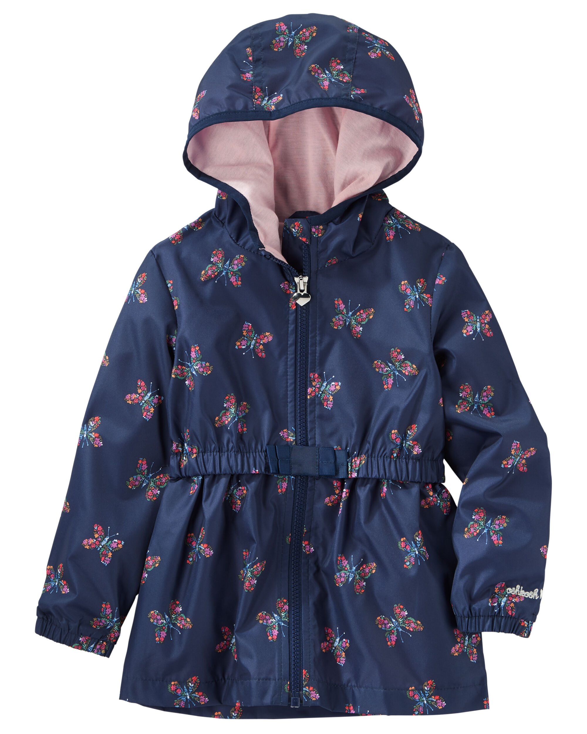 f1af0cac1 Baby Girl Butterfly Print Lightweight Hooded Jacket