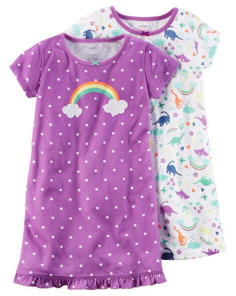 4f52e78ab 2-Pack Sleep Gowns