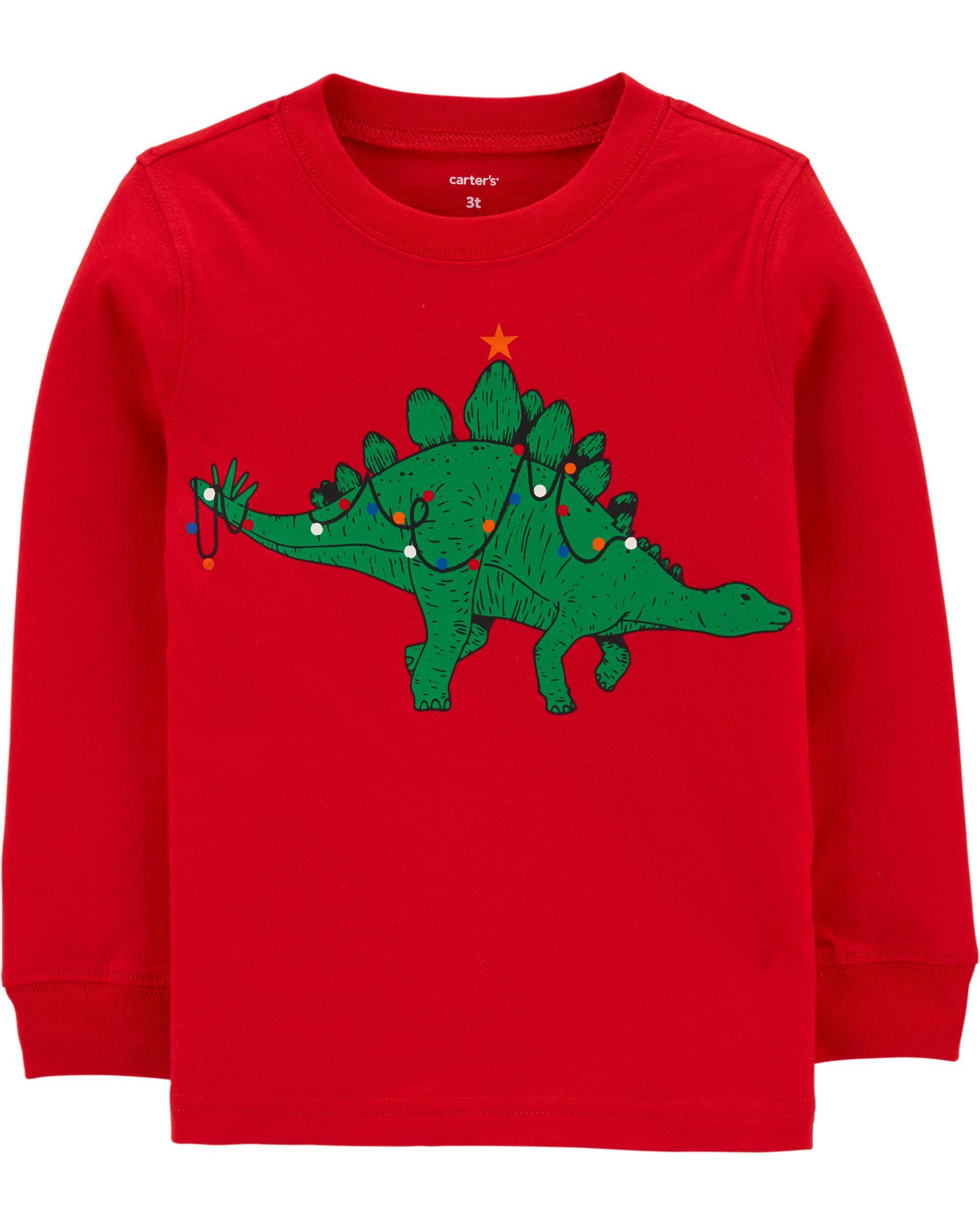 *DOORBUSTER* Christmas Dinosaur Jersey Tee