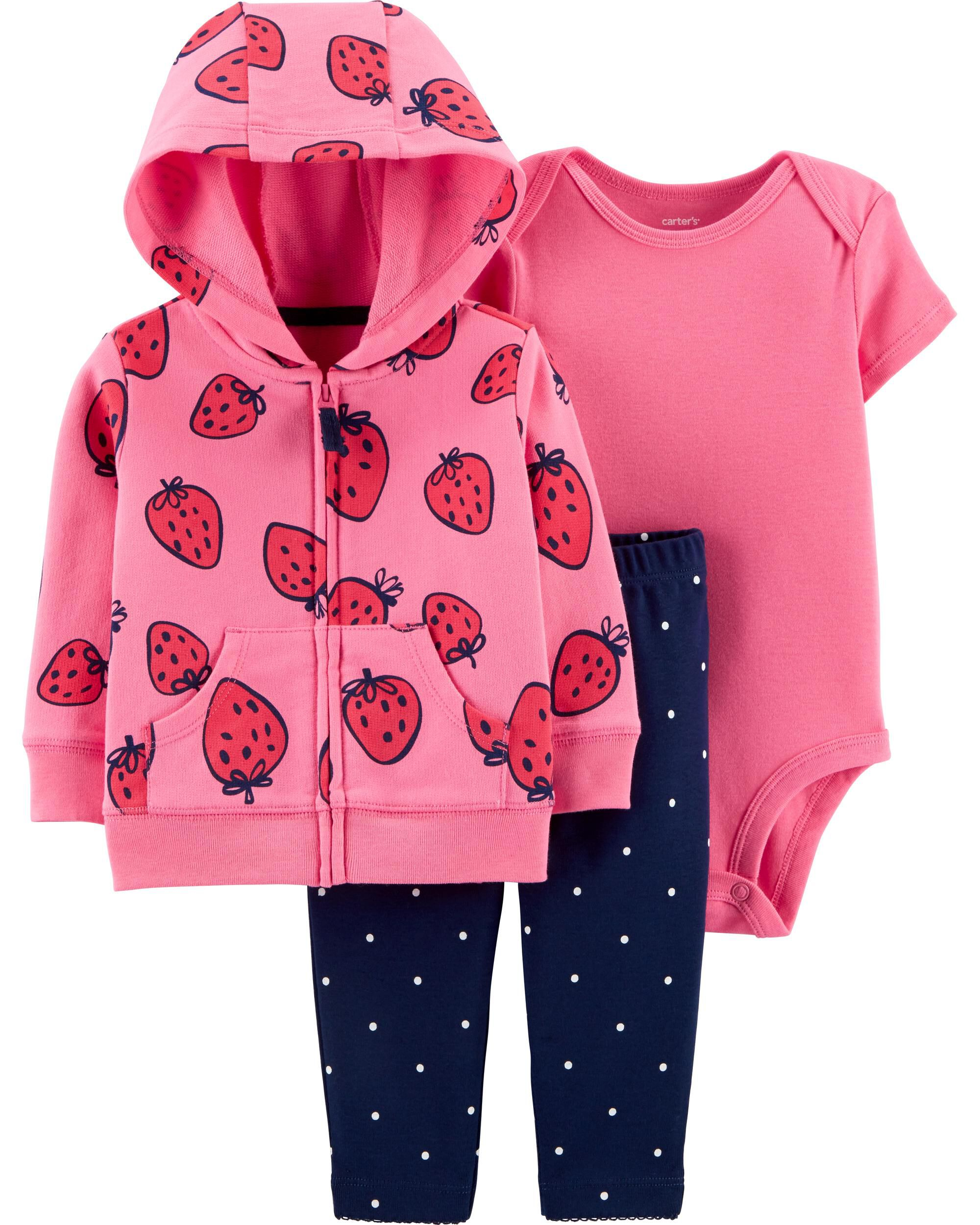 Girls' Clothing (newborn-5t) New Carters Toddler Girls 3 Piece Set Size:4t Fast Color Baby & Toddler Clothing