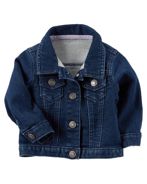 a20367531d03 Knit Denim Jacket