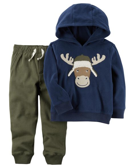153f9d7a6 Images. 2-Piece Fleece Hoodie & Jogger Set. Loading zoom