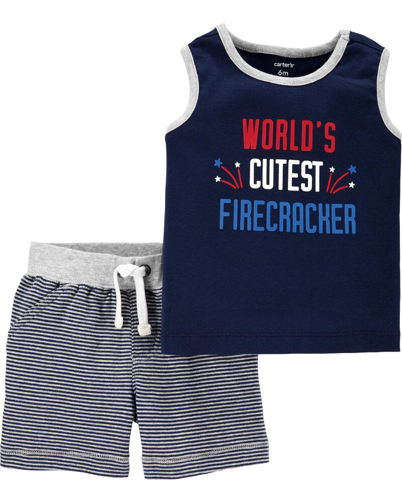 Girls clothes 4T  set carter/'s 4th of July tank,top,skirt New with tags